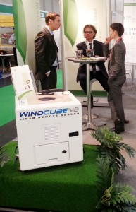 "Lidar-Windmessgerät ""Windcube"" am BBB-Stand auf der EWEA 2013 in Wien"