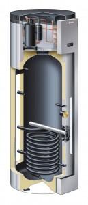 Die neue Viessmann Vitocal 161-A zur Trinkwassererwärmung nutzt als Wärmequelle die warme Luft aus der Umgebung. In der Ausführung als Abluft-Wärmepumpe ist sie die zentrale Komponente einer kontrollierten Wohnungslüftung.