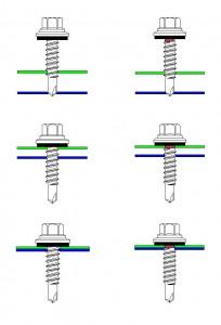 Längsstoßverschraubung durch Schraube ohne Hinterschnitt (links) und mit Hinterschnitt (rechts). Bauteil I bildet links einen Grad, rechts läuft es in den gewindefreien Bereich und wird nicht beschädigt.