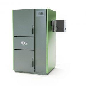 Der Scheitholzkessel HDG H mit der Anbaumöglichkeit einer (Pflanzenöl-) oder (Biogas-)Brennereinheit passt sich den wechselnden Kundenbedürfnissen an und bietet zudem höchsten Heizkomfort (Foto: HDG Bavaria GmbH)