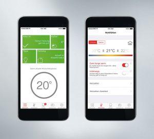 Einfach und sicher: Mit der ViCare App lassen sich Temperaturen und individuelle Heizzeiten jederzeit per Wischbewegung und Fingertipp auf dem Smartphone einstellen