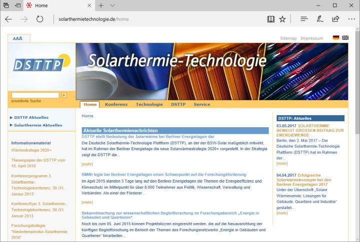 Solarthermie beweist großen Beitrag zur Energiewende