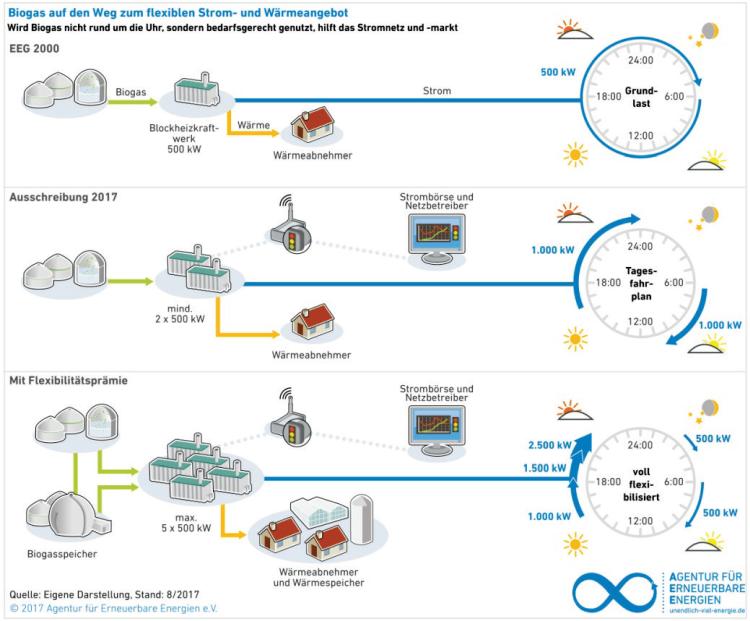 Bioenergie auf dem Weg zum flexiblen Strom- und Wärmelieferanten