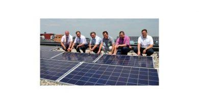 Den eigenen Strom verbrauchen: Photovoltaik-Anlage auf dem Dach des neuen Landratsamtes Erlangen-Höchstadt planmäßig in Betrieb genommen