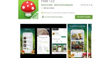 Pilze 123 App - Screenshot Tutti i sensi