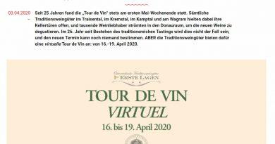 """Virtuelle """"Tour de Vin""""- Online Weine der Österreichischen Traditionsweingütern verkosten - Screenshot DeinEnergieportal"""