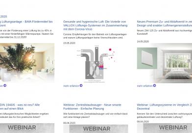 Vallox bietet kostenlose Webinare für Experten