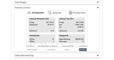 PLEXLOG-Monitoringportal zum Überwachen von Solaranlagen erweitert