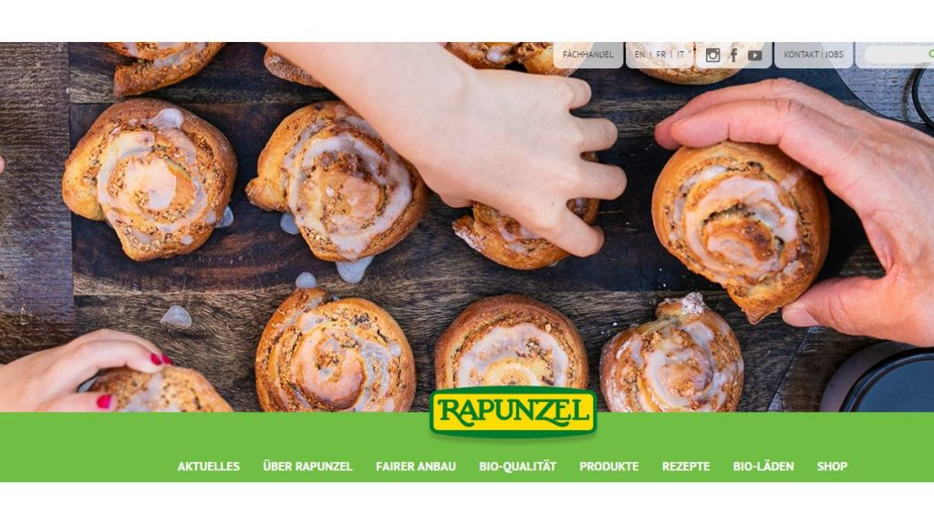 Mandel-Zimtschnecken - Rezept von Rapunzel, Screenshot Tutti i sensi