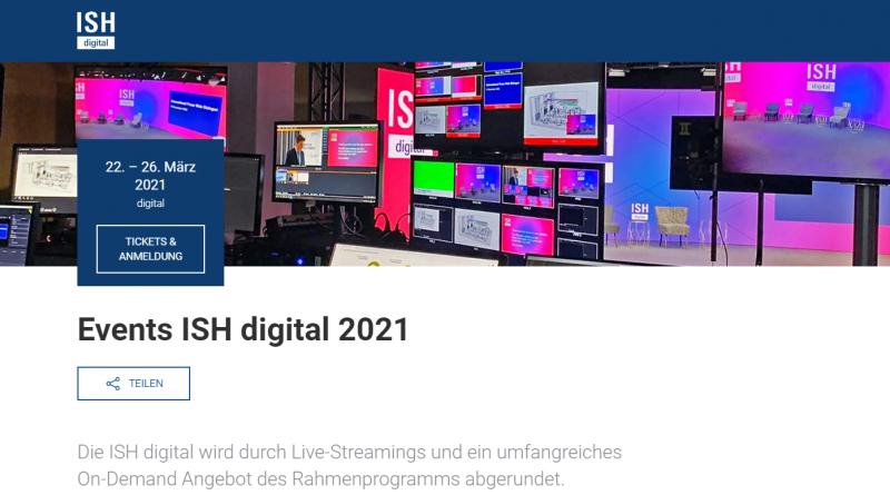 Großes Rahmenprogramm zur digitalen ISH