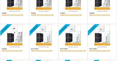 """""""Kit-Builder"""" zum schnellen Zusammenstellen von Speicher- und Photovoltaik-Paketen"""