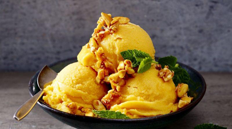 Süßkartoffeleis - Ein Rezept mit Süßkartoffeln aus North Carolina