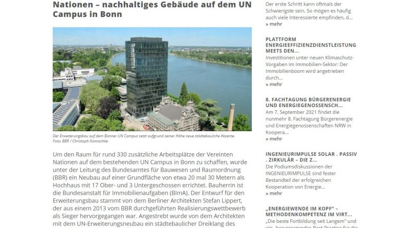 Passivhaus auf dem UN Campus Bonn