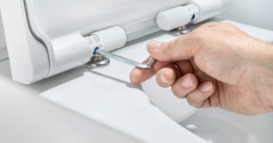 Abnehmbarer WC-Sitz für bessere Hygiene
